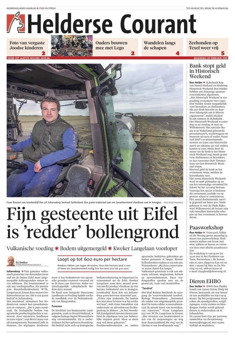 Noordhollands Dagblad Helderse Courant maandag 29 februari 2016